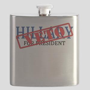Veto Hillary Flask