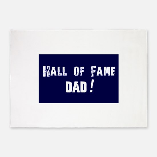 Hall of Fame Dad Blue White 5'x7'Area Rug