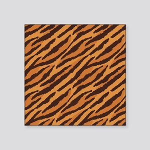 "Tiger Fur Square Sticker 3"" x 3"""