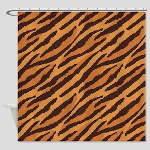 Tiger Fur Shower Curtain
