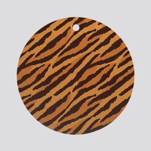 Tiger Fur Round Ornament
