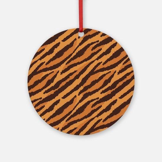 Tiger Fur Round Ornament