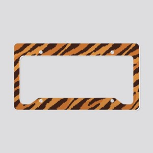 Tiger Fur License Plate Holder