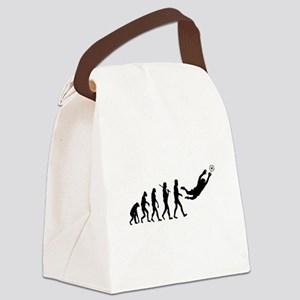 Soccer Goalie Evolution Canvas Lunch Bag