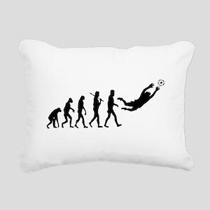 Soccer Goalie Evolution Rectangular Canvas Pillow