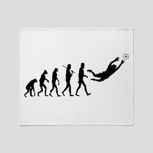 Soccer Goalie Evolution Throw Blanket