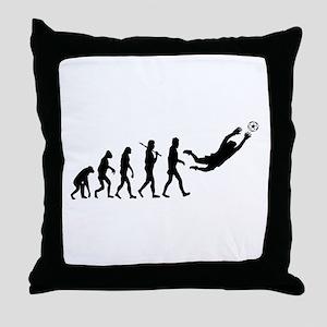 Soccer Goalie Evolution Throw Pillow