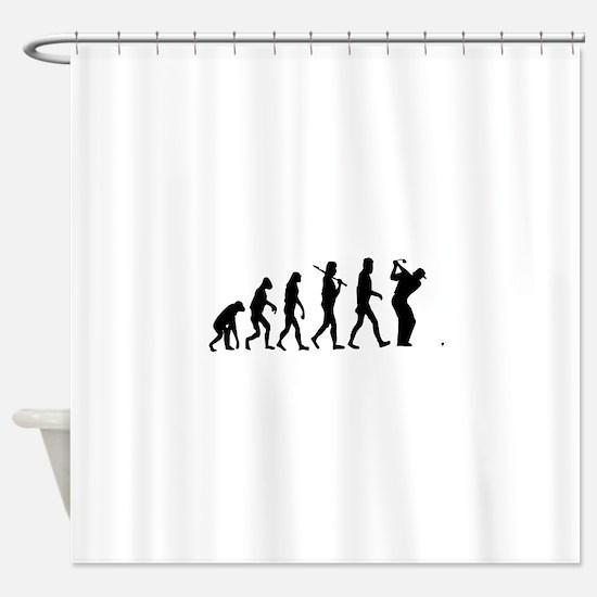 Golf Evolution Shower Curtain