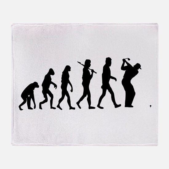 Golf Evolution Throw Blanket