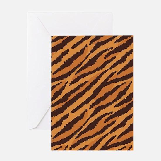 Tiger Fur Greeting Cards