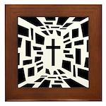 Christian Cross Framed Tile