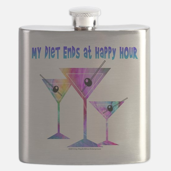 My DIET ENDS at Happy Hour! Flask