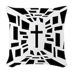 Christian Cross Woven Throw Pillow