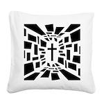 Christian Cross Square Canvas Pillow