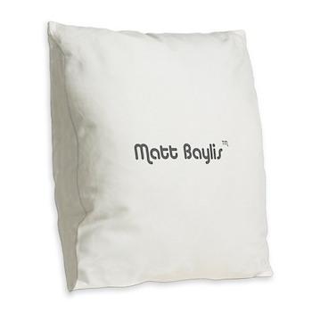 logo-large-transparent Burlap Throw Pillow