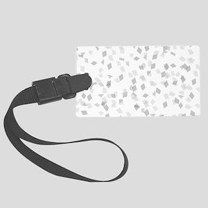 Grey Confetti Large Luggage Tag