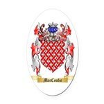 MacCoulie Oval Car Magnet
