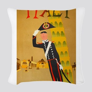 Leaning Soldier of Pisa Woven Throw Pillow