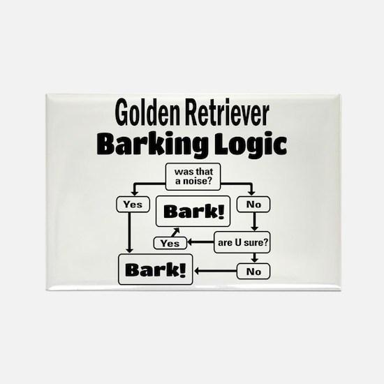 Cute Golden retriever lovers Rectangle Magnet