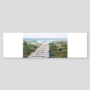 Beach Dock Over the Dunes Bumper Sticker