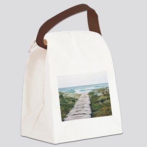 Beach Dock Over the Dunes Canvas Lunch Bag