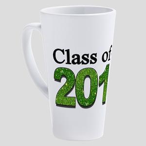 Class of 2018 Glitter 17 oz Latte Mug