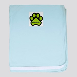 Animal Rescue (green) baby blanket