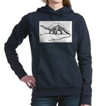 Therapsid Skeleton Women's Hooded Sweatshirt