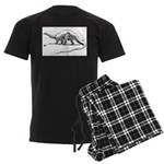 Therapsid Skeleton Men's Dark Pajamas