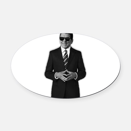 Reagan Serious Business Oval Car Magnet