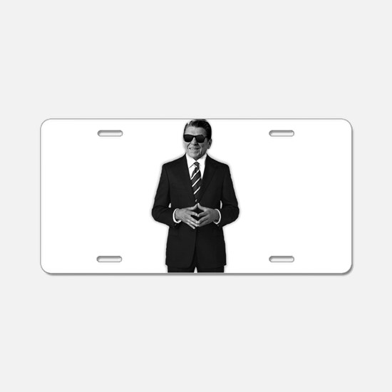 Reagan Serious Business Aluminum License Plate