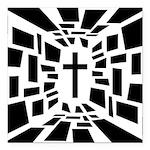 Christian Cross Square Car Magnet 3