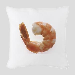 Cooked Shrimp Woven Throw Pillow