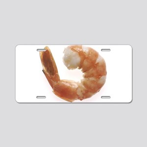 Cooked Shrimp Aluminum License Plate