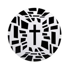 Christian Cross Round Ornament