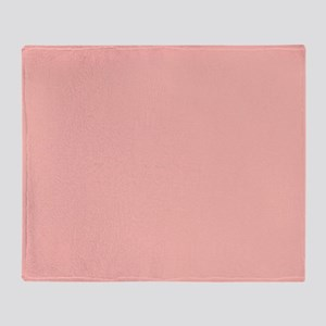 Rose Bud Pink Throw Blanket