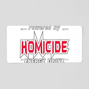 Homicide Energy Drink Aluminum License Plate