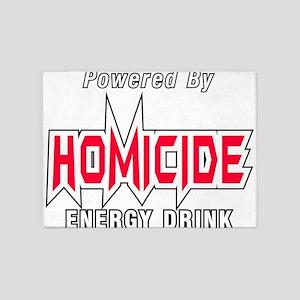 Homicide Energy Drink 5'x7'Area Rug