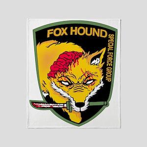 Fox hound Throw Blanket