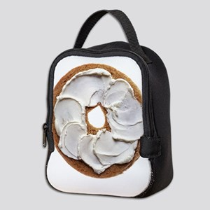 Bagel with Cream Cheese Neoprene Lunch Bag