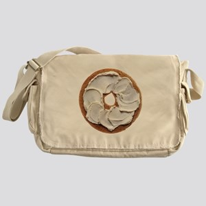 Bagel with Cream Cheese Messenger Bag