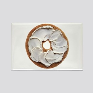 Bagel with Cream Cheese Magnets