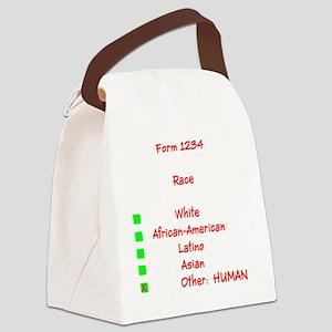 Humor Human Race Julia's Fave Canvas Lunch Bag
