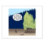 Golden Larches Small Poster