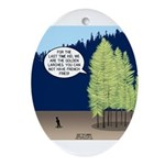 Golden Larches Ornament (Oval)