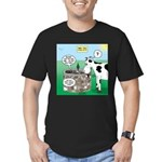 Timmys Cow Men's Fitted T-Shirt (dark)