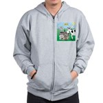 Timmys Cow Zip Hoodie