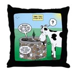 Timmys Cow Throw Pillow
