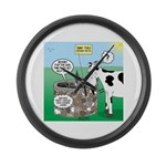Timmys Cow Large Wall Clock