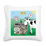 Timmys Cow Square Canvas Pillow